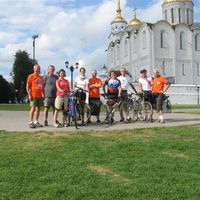end of the bike tour in Vladimir