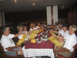 farewell dinner in Suzdal after bike tour