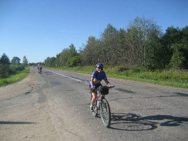 us cyclists in Russia