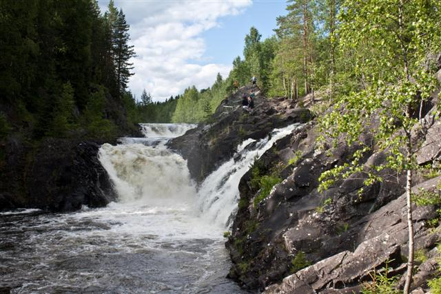 Waterfall in Karelia