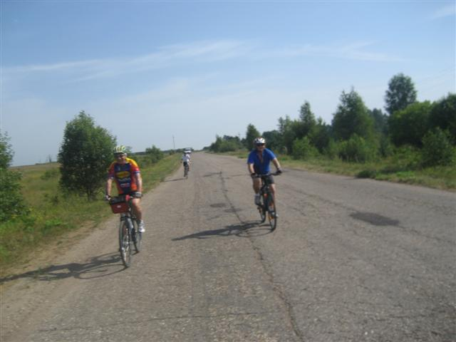 bicyclists in Tver region